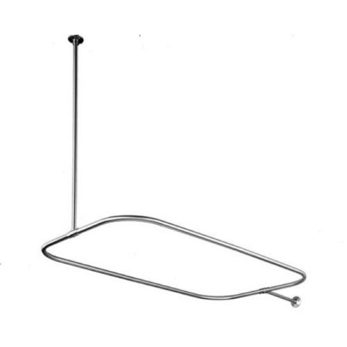 Kingston Brass Cc3151 Rectangular Shower Rod For Clawfoot Tub